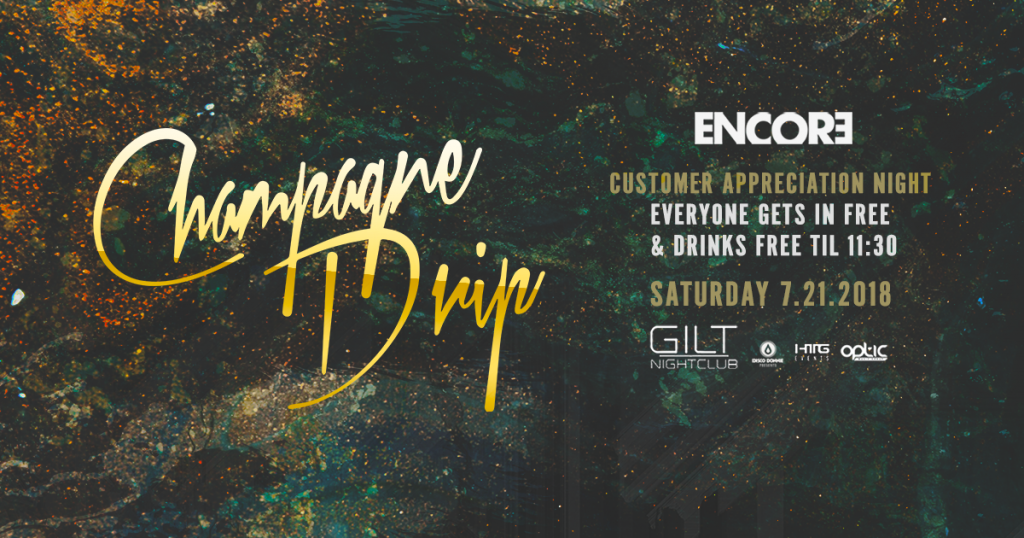Champagne Drip at Gilt Nightclub