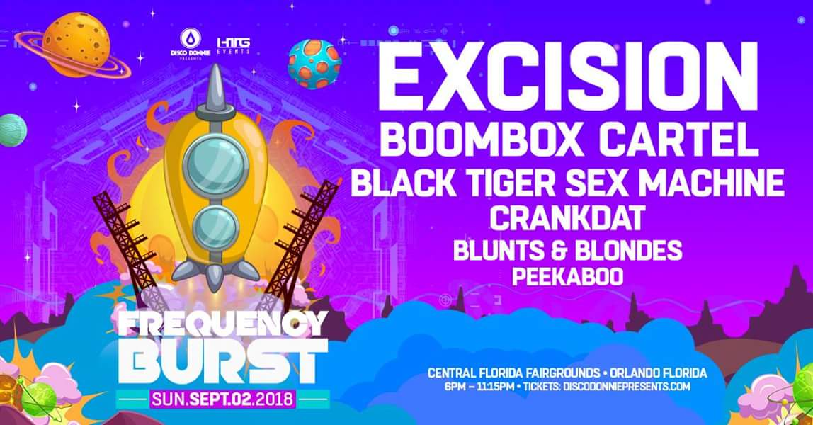 Frequency Burst Feat Excision Boombox HTG Events Orlando - Central florida fairgrounds car show